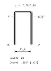 80/16 Galvanized Staples series 80