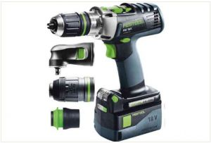 Cordless percussion drill QUADRIVE PDC 18/4 Li 5,2-Plus-SET/XL