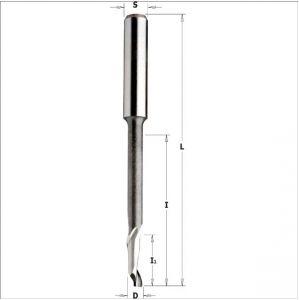 Frese elicoidali per alluminio e PVC HS 5%Co monotagliente positivo, serie ribassata 189.040.11