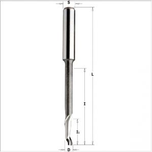 Frese elicoidali per alluminio e PVC HS 5%Co monotagliente positivo, serie ribassata 189.100.11