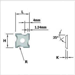 Coltellini reversibili per raggiare - 4 taglienti 790.030.04