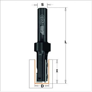 Straight router bits with insert knives 653.160.11