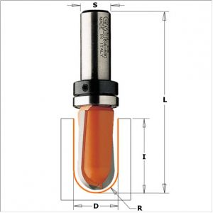 Round nose router bits 914.160.11B
