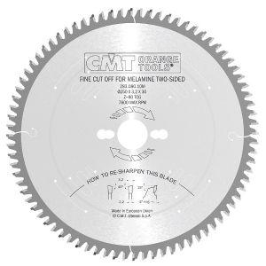Industrial fine cut-off circular saw blades for two-sided melamine 283.080.10M