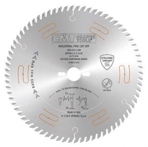 Industrial low noise & chrome coated circular saw blades with ATB grind 285.708.14M