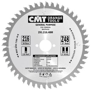 Crosscut circular saw blades, for portable machines 291.160.24H