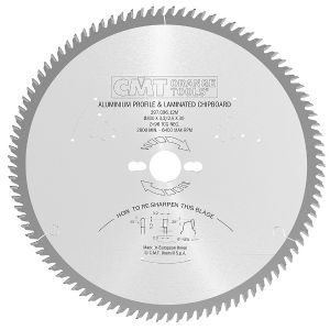 Industrial non-ferrous metal and laminated panel circular saw blades 297.096.23M