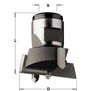 Interchangeable boring bits with threaded shank 501.400.11