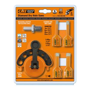 6 Pieces diamond dry hole saws 552-501-06