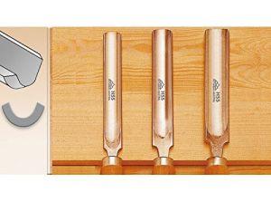 """700527 Sgorbia per sgrossatura e per profilare in HSS 27 mm tipo """"Continentale"""""""