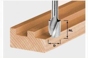 Spiral groove cutter HW Spi S8 D10/30
