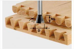 Fresa per giunzioni a coda di rondine HW S8 D20/26/10°