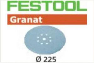 Sanding discs STF D225/8 P180 GR/25 Granat