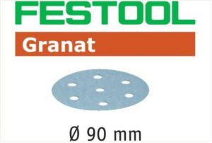 Sanding discs STF D90/6 P150 GR/100 Granat