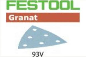 Sandpaper STF V93/6 P120 GR/100 Granat