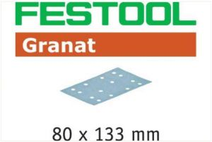 Abrasive sheet STF 80x133 P120 GR/10 Granat