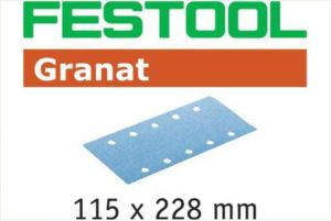 Foglio abrasivo STF 115x228 P220 GR/100 Granat