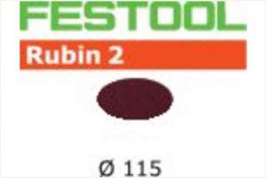 Disco abrasivo STF D115 P120 RU2/50 Rubin 2