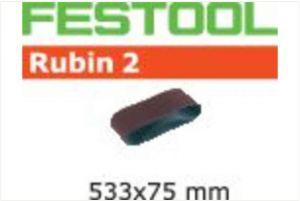 Abrasive belt L533X 75-P60 RU2/10 Rubin 2
