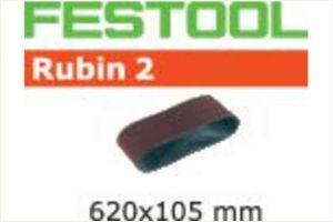 Abrasive belt L620X105-P120 RU2/10 Rubin 2