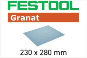 Abrasive paper 230x280 P120 GR/10 Granat