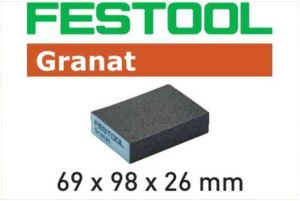 Sanding block 69x98x26 120 CO GR/6 Granat