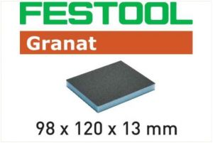Abrasive sponge 98x120x13 120 GR/6 Granat