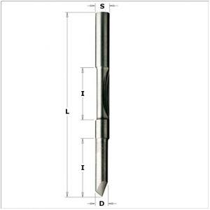 Fresa a doppio tagliente per forare e rifilare con guida 716.061.11