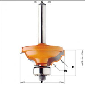 Ogee with fillet router bits 746.325.11