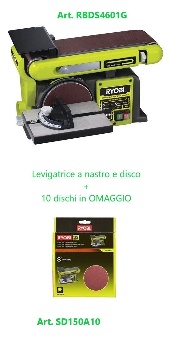 Levigatrice a Nastro e a disco 375 W + 10 Dischi Abravisvi