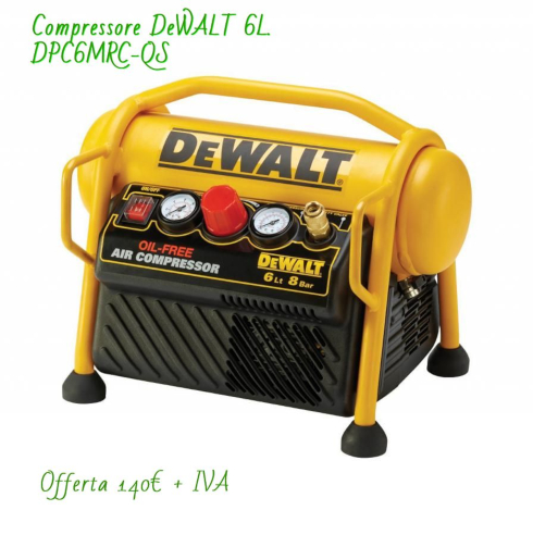 DeWALT DPC6MRC-QS - COMPRESSOR 6L